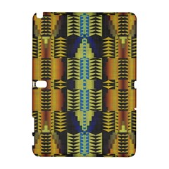 Triangles and other shapes pattern Samsung Galaxy Note 10.1 (P600) Hardshell Case