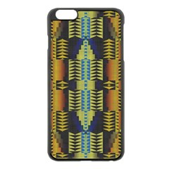 Triangles and other shapes pattern Apple iPhone 6 Plus Black Enamel Case