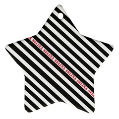 Selina Zebra Star Ornament (two Sides)