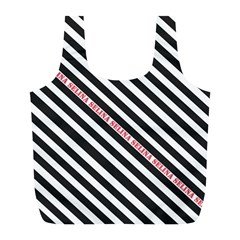 Selina Zebra Full Print Recycle Bags (l)