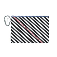 Selina Zebra Canvas Cosmetic Bag (M)