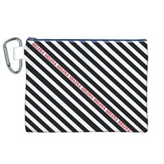 Selina Zebra Canvas Cosmetic Bag (XL)