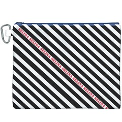 Selina Zebra Canvas Cosmetic Bag (XXXL)