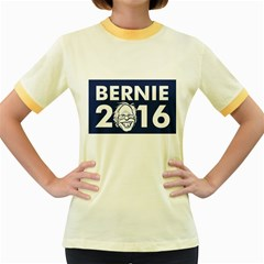 Bernie 2016 2 Women s Fitted Ringer T Shirts