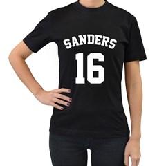 Sanders 16 Women s T-Shirt (Black) (Two Sided)