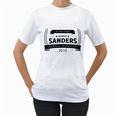 Bernie We Stand 3 Women s T-Shirt (White) (Two Sided)