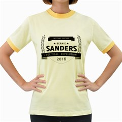Bernie We Stand 3 Women s Fitted Ringer T-Shirts