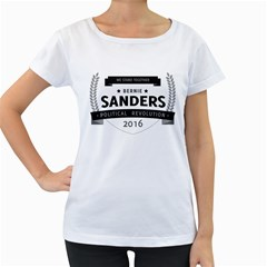 Bernie We Stand 3 Women s Loose-Fit T-Shirt (White)