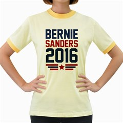 Bernie 2016 Athletic Women s Fitted Ringer T-Shirts