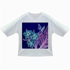 Purple, Pink Aqua Flower style Infant/Toddler T-Shirts