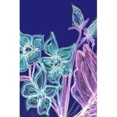 Purple, Pink Aqua Flower style 5.5  x 8.5  Notebooks