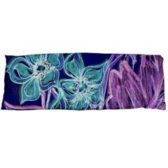 Purple, Pink Aqua Flower style Body Pillow Cases (Dakimakura)