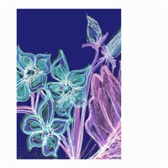 Purple, Pink Aqua Flower Style Small Garden Flag (two Sides)