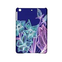 Purple, Pink Aqua Flower Style Ipad Mini 2 Hardshell Cases