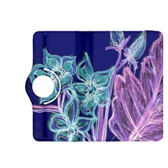Purple, Pink Aqua Flower style Kindle Fire HDX 8.9  Flip 360 Case