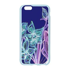 Purple, Pink Aqua Flower style Apple Seamless iPhone 6 Case (Color)
