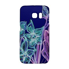 Purple, Pink Aqua Flower style Galaxy S6 Edge