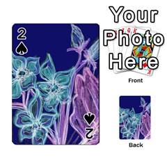 Purple, Pink Aqua Flower Style Playing Cards 54 Designs