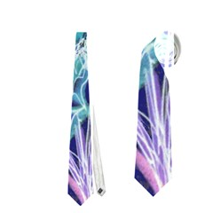Purple, Pink Aqua Flower style Neckties (One Side)