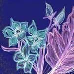 Purple, Pink Aqua Flower style Storage Stool 12   Left