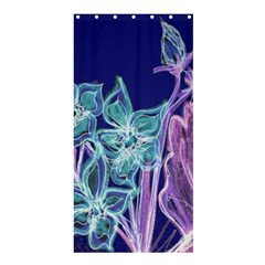 Purple, Pink Aqua Flower Style Shower Curtain 36  X 72  (stall)