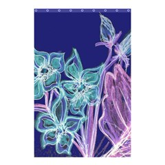 Purple, Pink Aqua Flower Style Shower Curtain 48  X 72  (small)