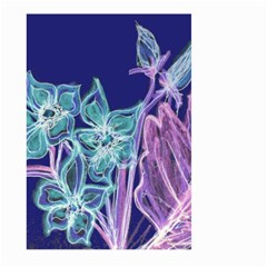 Purple, Pink Aqua Flower style Large Garden Flag (Two Sides)