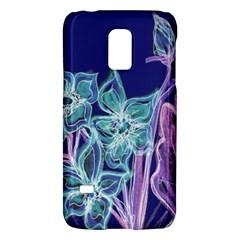 Purple, Pink Aqua Flower style Galaxy S5 Mini