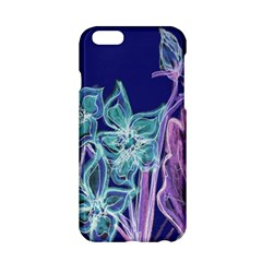 Purple, Pink Aqua Flower style Apple iPhone 6 Hardshell Case