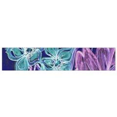 Purple, Pink Aqua Flower Style Flano Scarf (small)