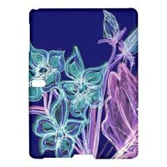 Purple, Pink Aqua Flower Style Samsung Galaxy Tab S (10 5 ) Hardshell Case