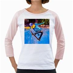 Skateboarding on Water Girly Raglans