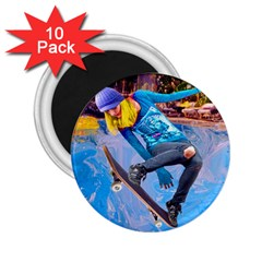 Skateboarding On Water 2 25  Magnets (10 Pack)