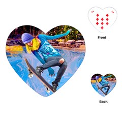 Skateboarding on Water Playing Cards (Heart)