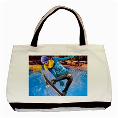Skateboarding On Water Basic Tote Bag