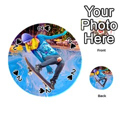 Skateboarding on Water Playing Cards 54 (Round)
