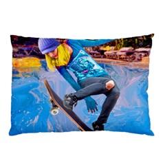 Skateboarding on Water Pillow Cases