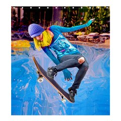 Skateboarding on Water Shower Curtain 66  x 72  (Large)