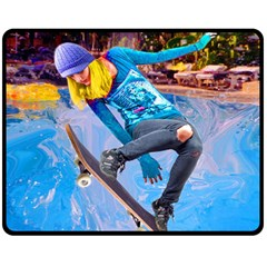 Skateboarding on Water Fleece Blanket (Medium)