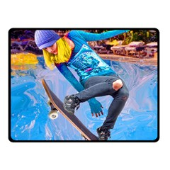 Skateboarding on Water Fleece Blanket (Small)