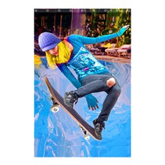 Skateboarding On Water Shower Curtain 48  X 72  (small)