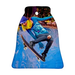 Skateboarding on Water Bell Ornament (2 Sides)