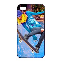 Skateboarding on Water Apple iPhone 4/4s Seamless Case (Black)