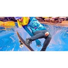 Skateboarding On Water You Are Invited 3d Greeting Card (8x4)