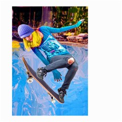 Skateboarding On Water Small Garden Flag (two Sides)