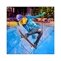 Skateboarding on Water Acrylic Tangram Puzzle (6  x 6 )