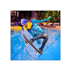 Skateboarding On Water Acrylic Tangram Puzzle (4  X 4 )