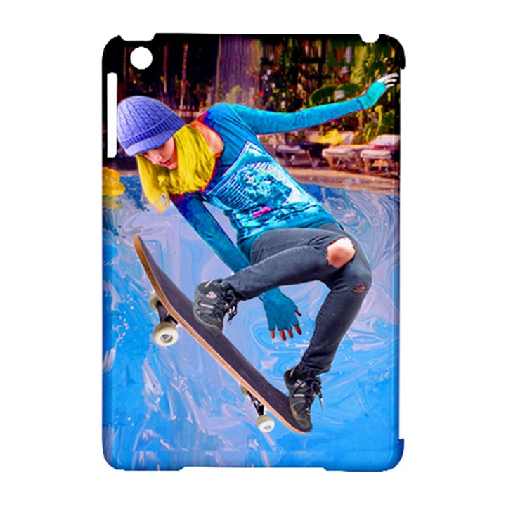 Skateboarding on Water Apple iPad Mini Hardshell Case (Compatible with Smart Cover)