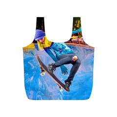 Skateboarding on Water Full Print Recycle Bags (S)