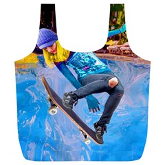 Skateboarding On Water Full Print Recycle Bags (l)